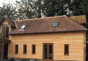 Barn with wooden facia