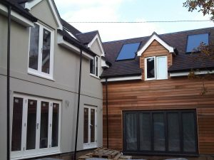 Render and Cedar cladding in Hamble, Hampshire